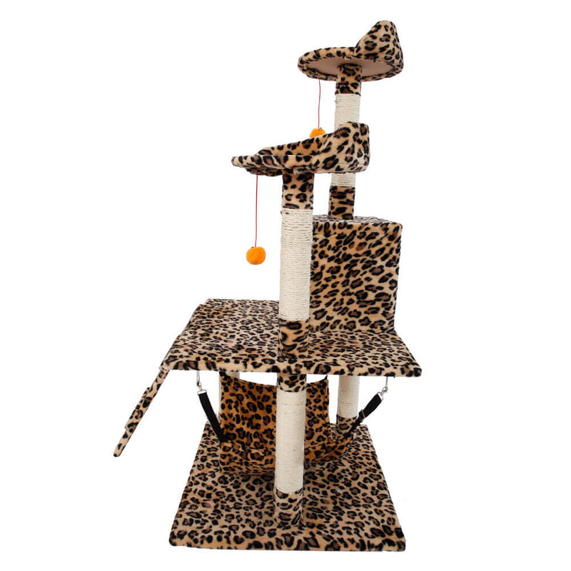 Stable Cute Sisal Cat Climb Holder Cat Tower Leopard Print 51 inches