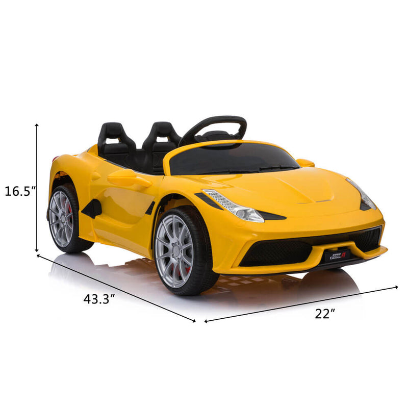Kids Electric Ride On Car with Remote Control Yellow
