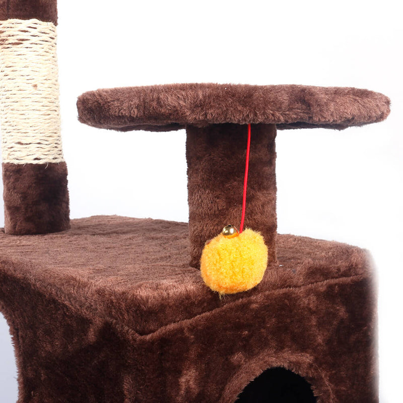 Sisal Hemp Cat Tree Cat Tower Brown 52 inches