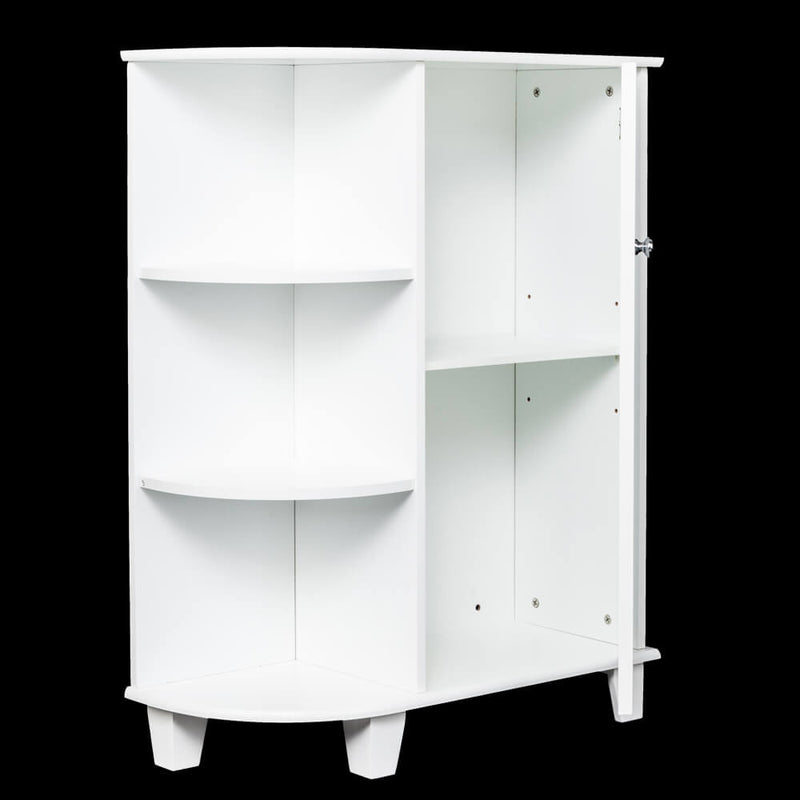 3-tier Floor Storage Cabinet with Side Shelves