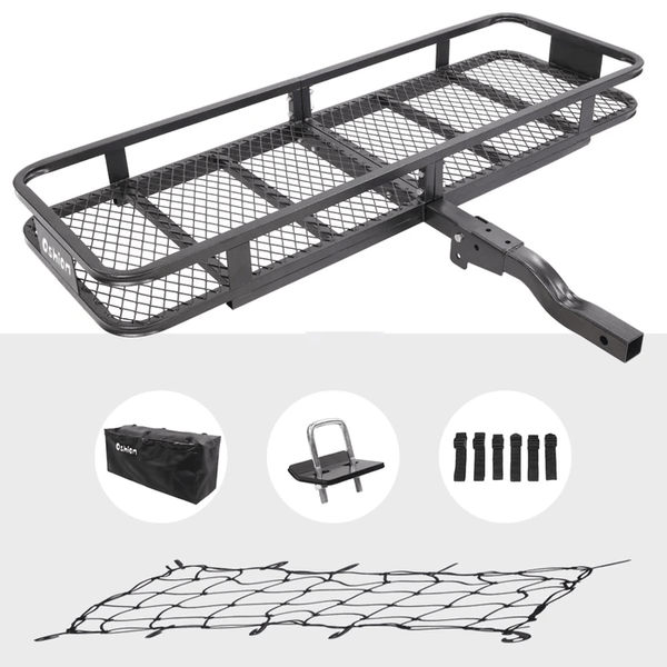 Hitch Mounted Cargo Carrier 500lbs Foldbale Basket Luggage Car SUV Truck
