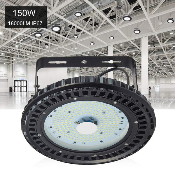 150W UFO LED High Bay Light Factory Warehouse Gym Lighting Industrial Lamp 4Pcs