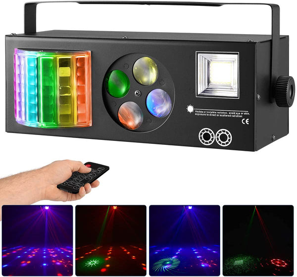YOLNEY Party Lights Stage Lights with Remote Control & DMX LED Pattern DJ Lights for Party Wedding Birthday