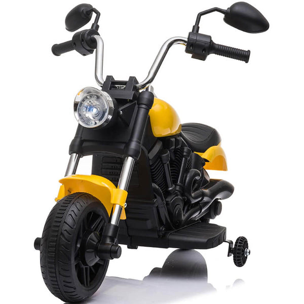 Ride on Toy for Kids Battery Powered Motorcycle With Training Wheels Yellow