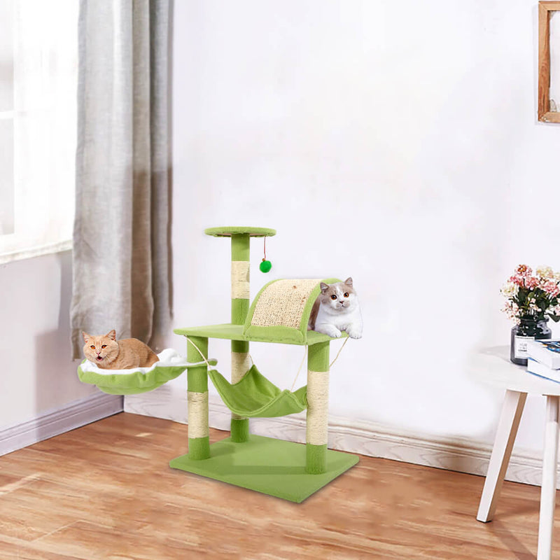 Stable Cute Sisal Cat Climb Holder Cat Tower Lamb Green 32 inches