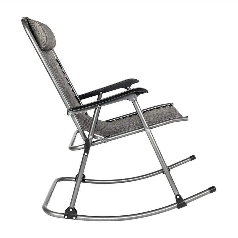 Rocking Chair Leisure Chair for Living Room, Gray