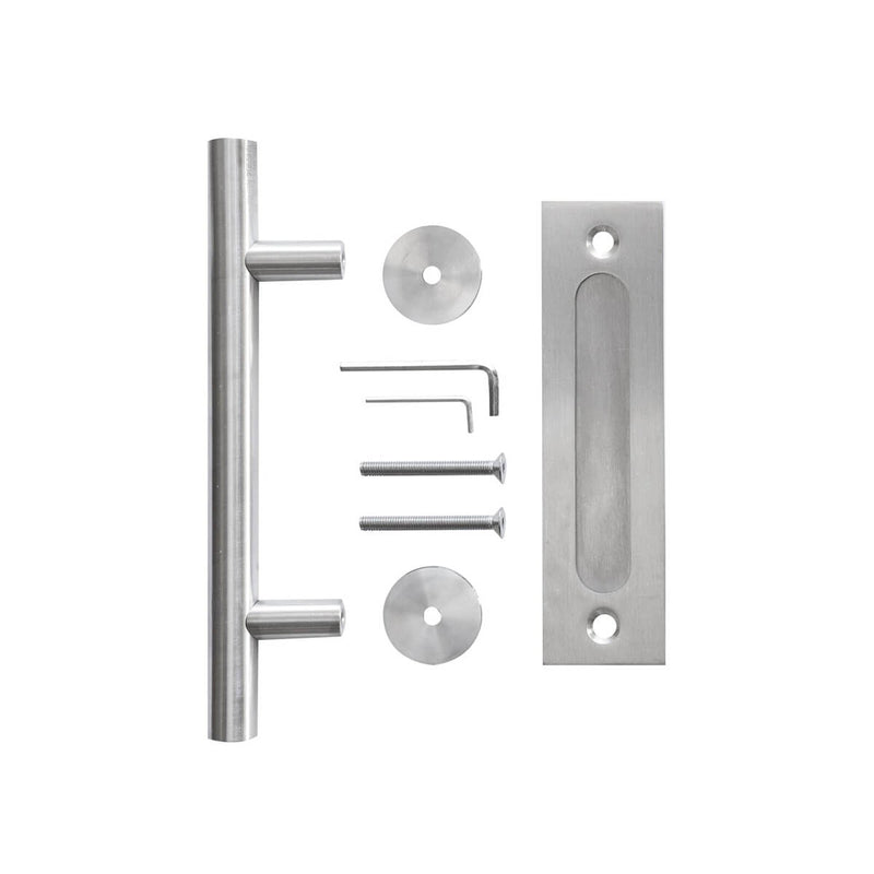 12 Inches Stainless Steel Sliding Barn Door Handle Set
