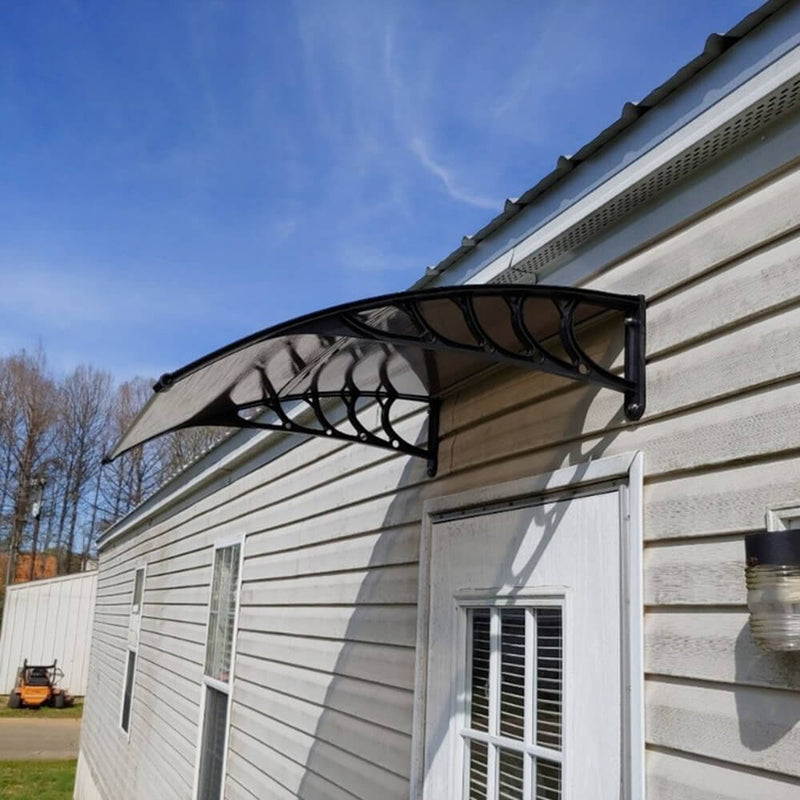 "40"" x 40"" Front Door Awnings Canopies, Polycarbonate Window Awning Cover, Patio Eaves Canopy Decorator"