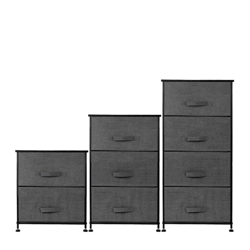 4-Tier Dresser Tower, Fabric Drawer Organizer With 4 Easy Pull Drawers With Metal Frame