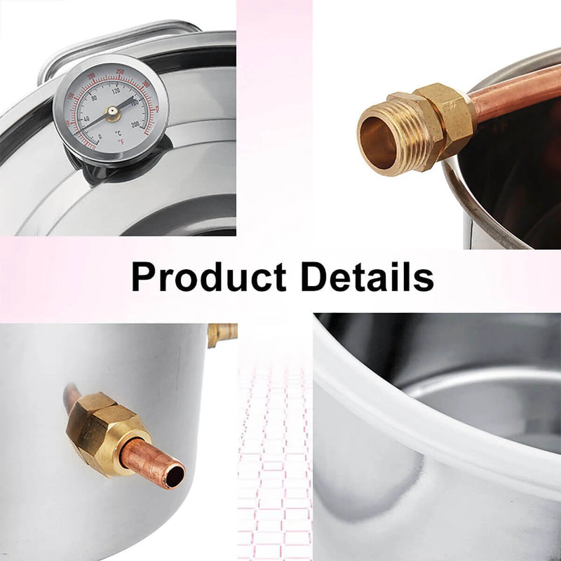 8 Gallon 30 L Alcohol Distiller Boiler Water Home Distiller Wine Making Kit
