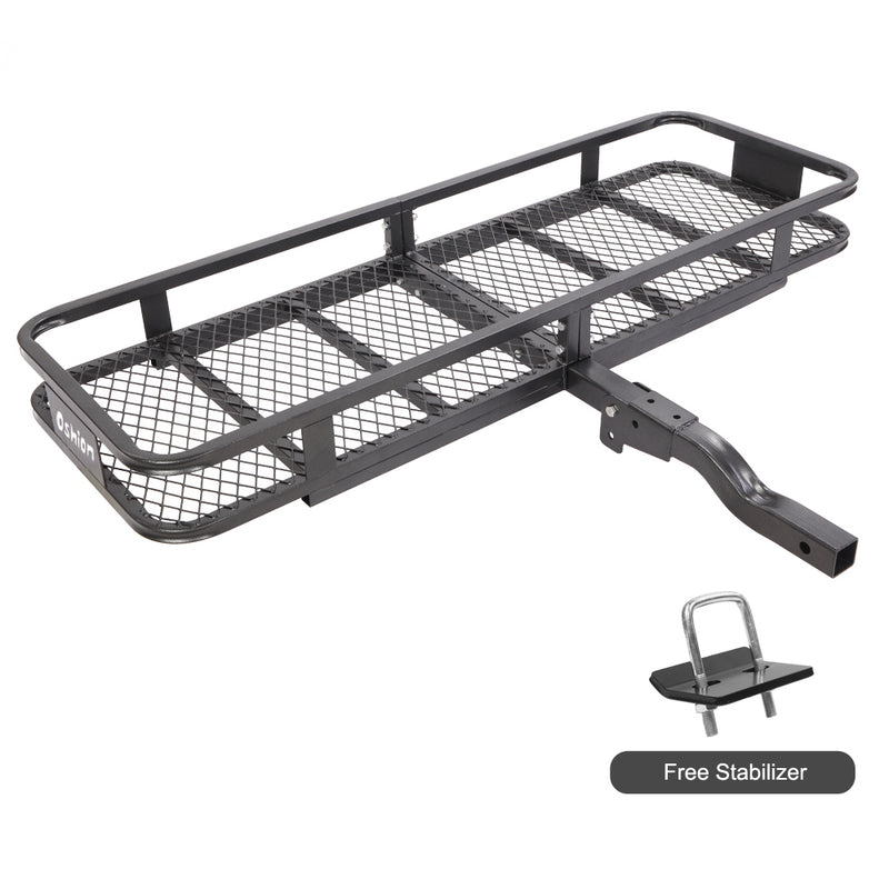 Folding Cargo Carrier Luggage Basket Hitch Mounted Car SUV Truck Durable 500lbs