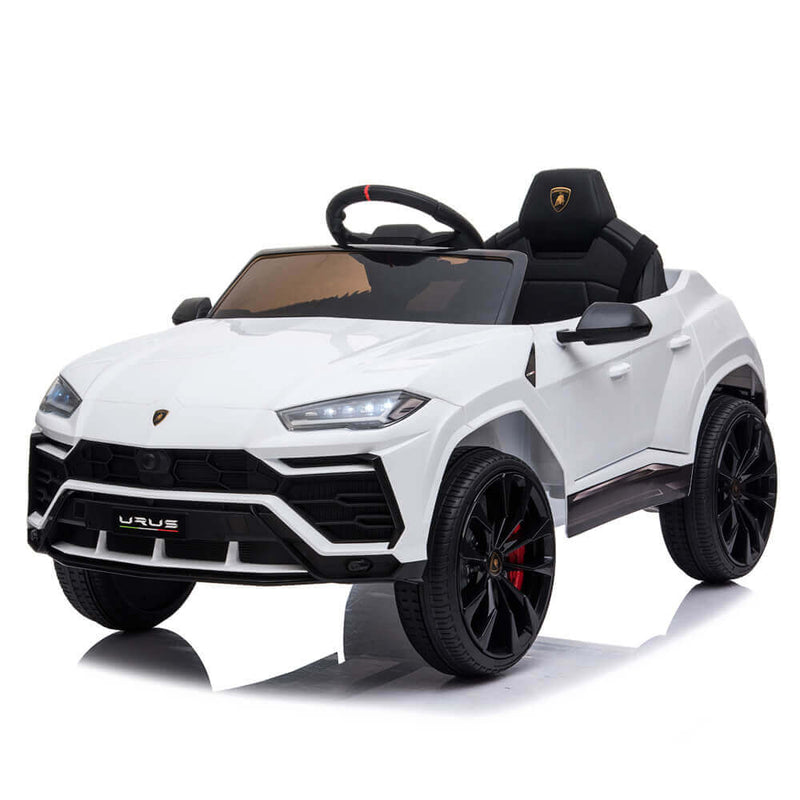 Small Lamborghini Ride On Car Dual Drive Remote Control White