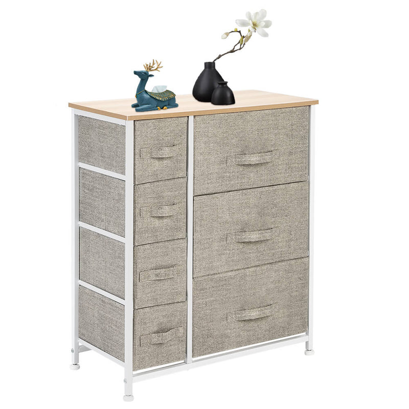 Storage Tower Dresser With 7 Drawers Furniture Unit for Bedroom