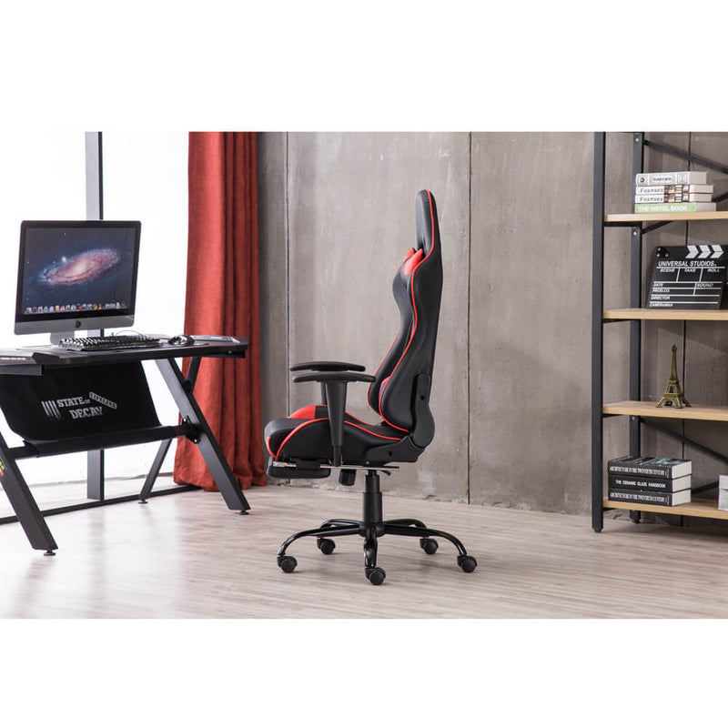 Racing Gaming Chair High Back Swivel Office Chair Red