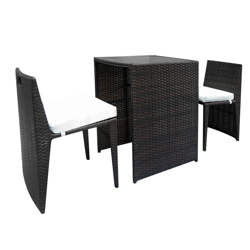 Table Chair Set 2 Pieces Bar Chairs 1pc Bar Table Brown Gradient