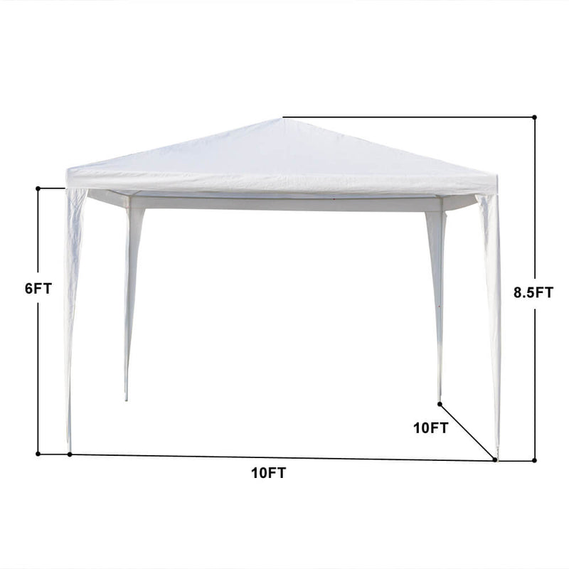 Three Sides Waterproof Tent with Spiral Tubes, 10 x 10 ft