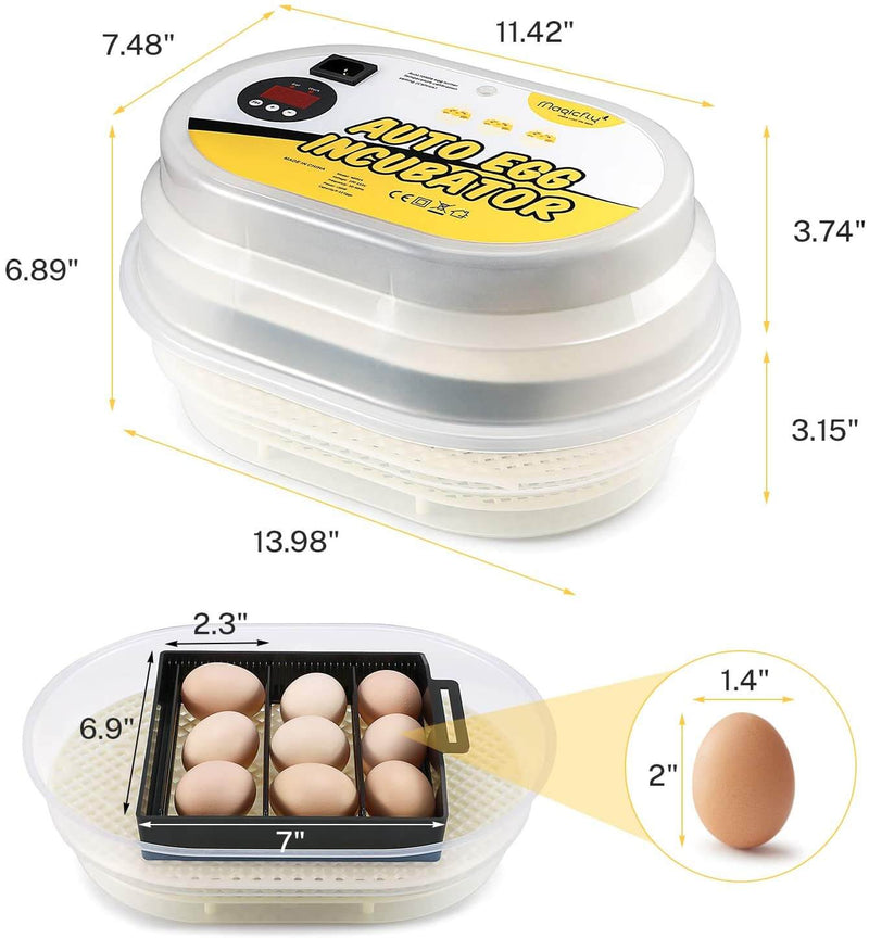 Digital Mini Fully Automatic 9-12 Egg Incubator Poultry Hatcher