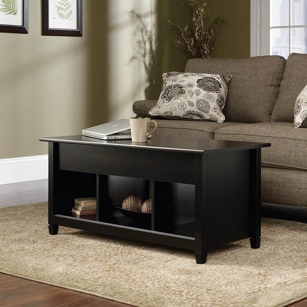 Lift Tabletop Coffee Tables Wood Living Room Furniture Hidden Compartment Black