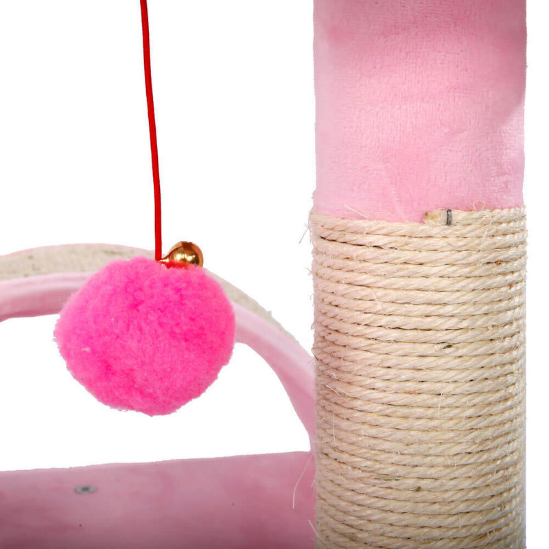 Stable Cute Sisal Cat Climb Holder Cat Tower Lamb Pink 32 inches