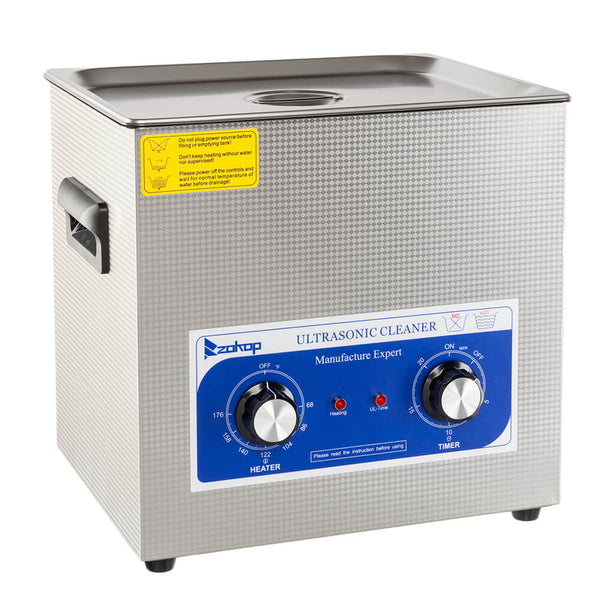 10L Commercial Ultrasonic Cleaner Large Capacity Stainless Steel with Heater and Digital Timer