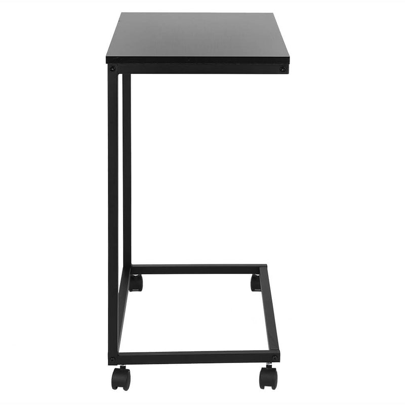 Movable Workstation Office Side Table Accent Table Black