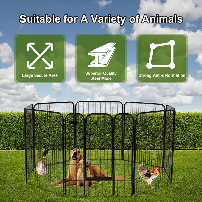 40 inch Dog Playpen with Door Heavy Duty Foldable Playpen Kennel