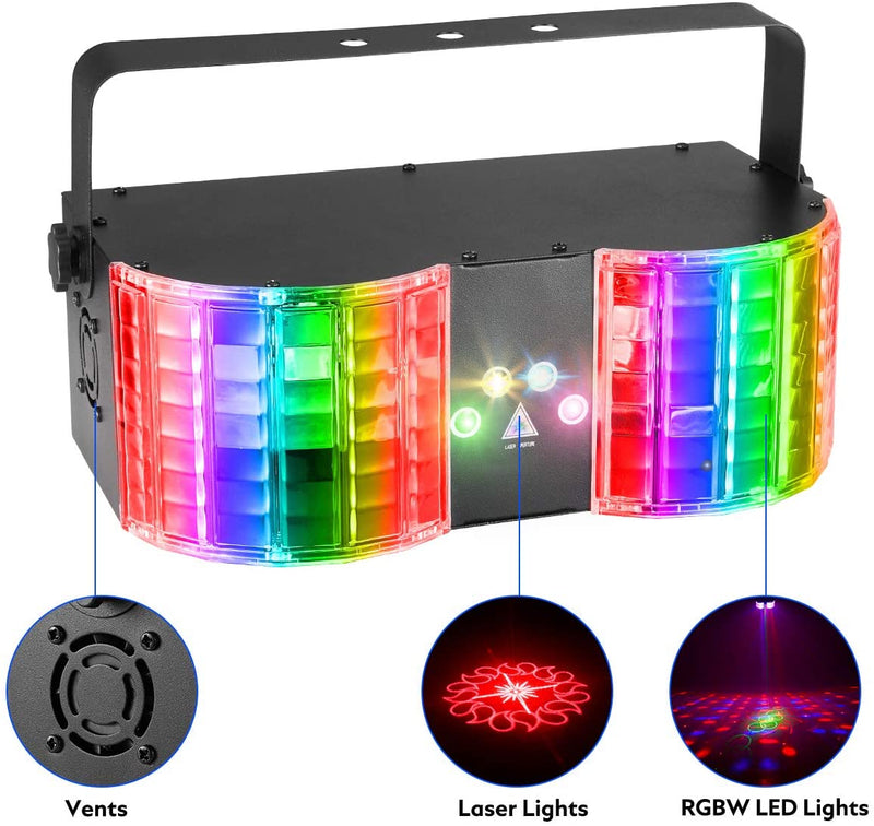 YOLNEY Stage Lights, Party Lights with Remote Control & DMX LED DJ Lights for Party Wedding Birthday