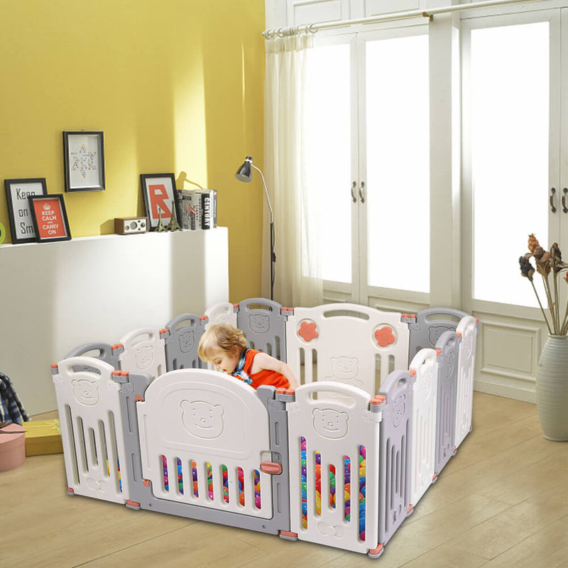 Baby 14 Panel Playpen Activity Centre Indoor Outdoor Playards Fence Safety Play Yard