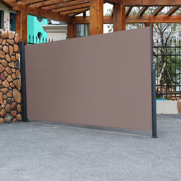 10 x 6 ft Outdoor Side Pull Shed Isolation Canopy Brown
