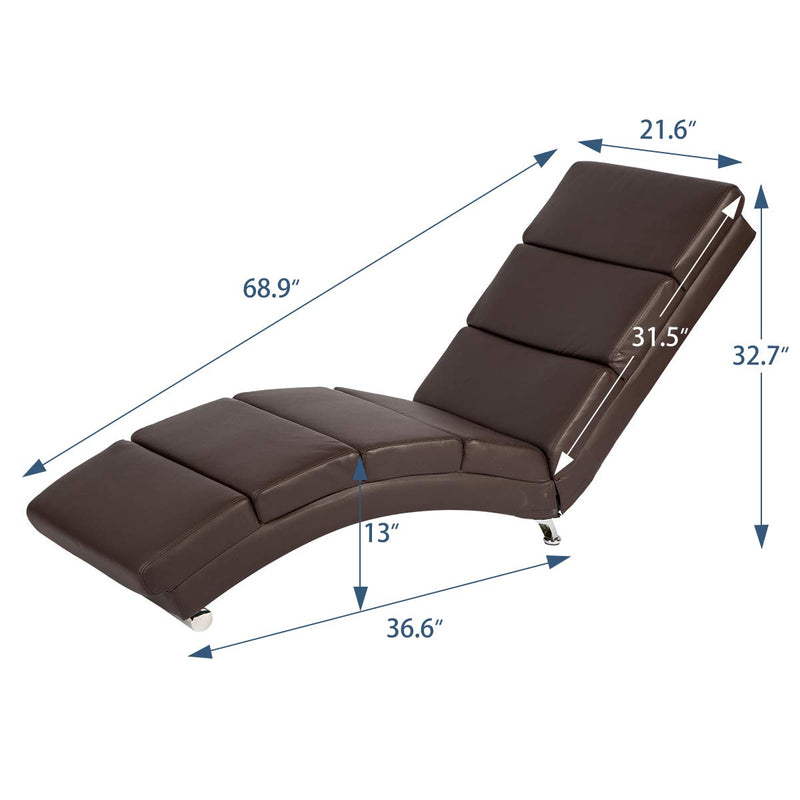 Electric Massage Recliner Chair Chaise Longue Heated PU Leather Ergonomic Lounge Massage Recliner with Massage,Heating,Remote Control,Side Pocket