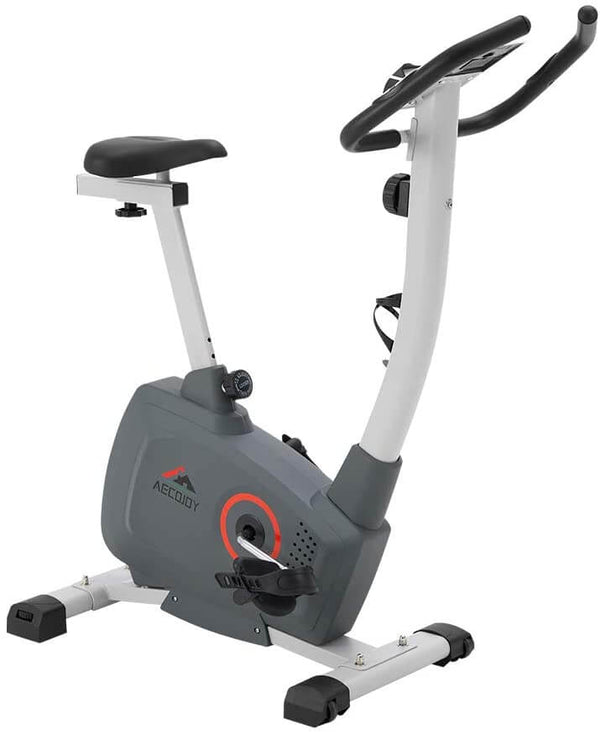 Magnetic Resistance Exercise Bike, 8-Level Magnetic Indoor Cycling Bike LED Monitor Exercise Bike