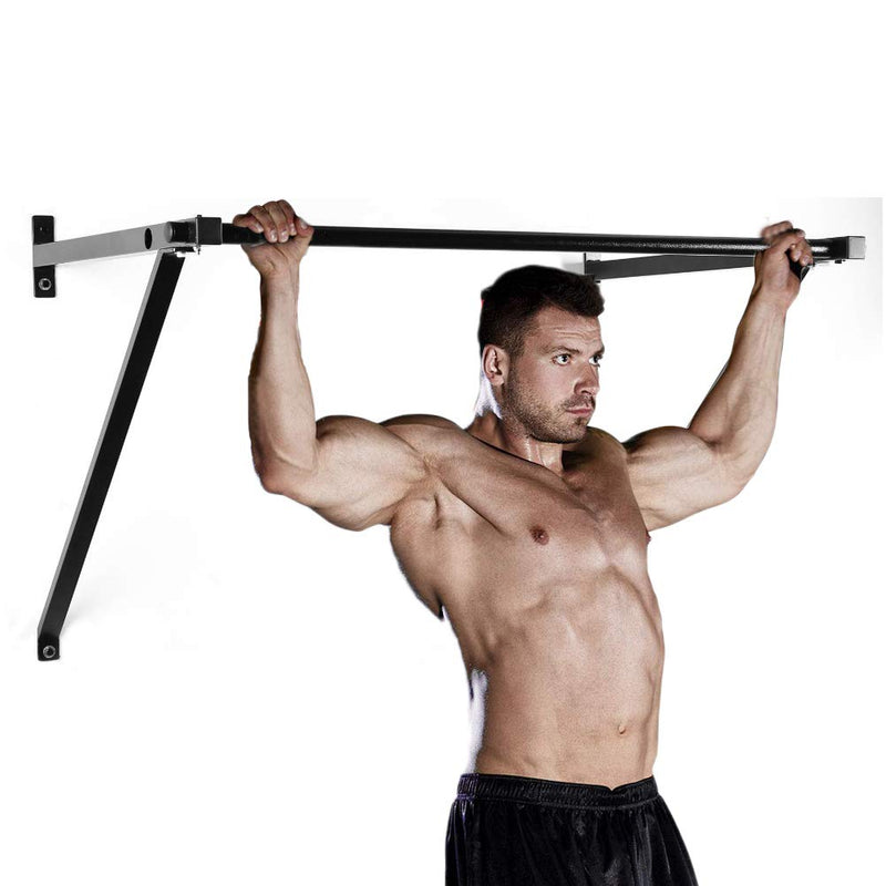 Pull Up Bar Adjustable Wall Mounted Heavy Duty Chin Up Bar for Fitness