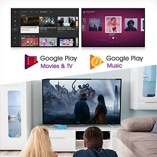 6K Ultra HD Android TV Box Android 9.0 Media Player TV Box Quad Core 64-bit ARM Smart TV Box Support 3D 6K Ultra HD H.265 2.4GHz 5G WiFi