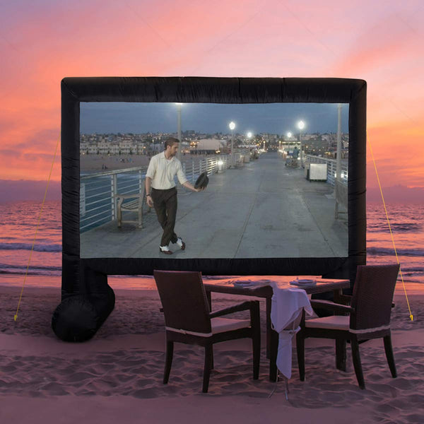 14ft Inflatable Movie Screen Canvas Projection Screen Portable