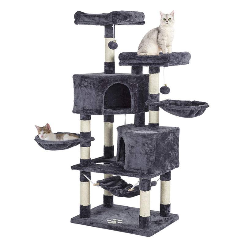 57 inches Cat Tree Tower Condo with Cat Scratching Post Multi-Level Cat Furniture