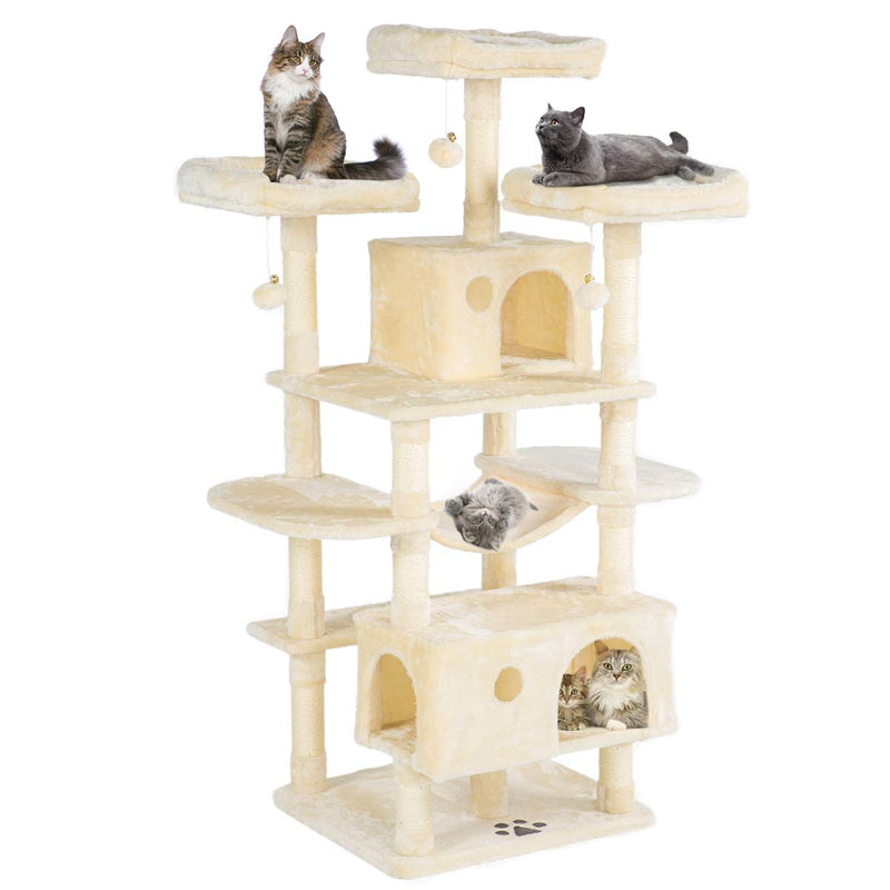 63 inches Cat Tree Tower  Play Condo Furniture (Free Gifts)