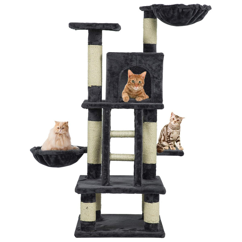 Multi-Level Cat Tree Cat Kitty Activity Center Kitten Play House (Free Gifts)