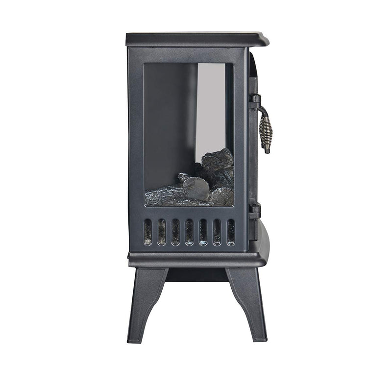 "23"" Electric Stove 3-Sided Open Design for Full View,Electric Fireplace with Dimmer Temperature Control"