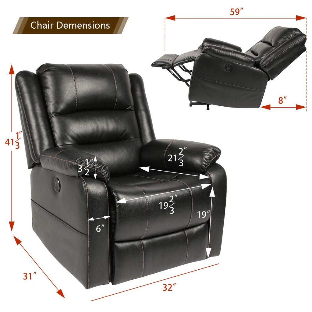 Prime Esright Power Lift Chair Faux Leather Electric Recliner For Elderly Heated Vibration Massage Sofa With Side Pockets Usb Charge Port Remote Pabps2019 Chair Design Images Pabps2019Com