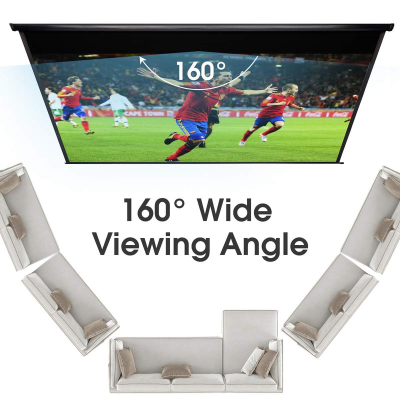 100 inch Electric Projector Screen 4K HD 1080P Wrinkle-Free