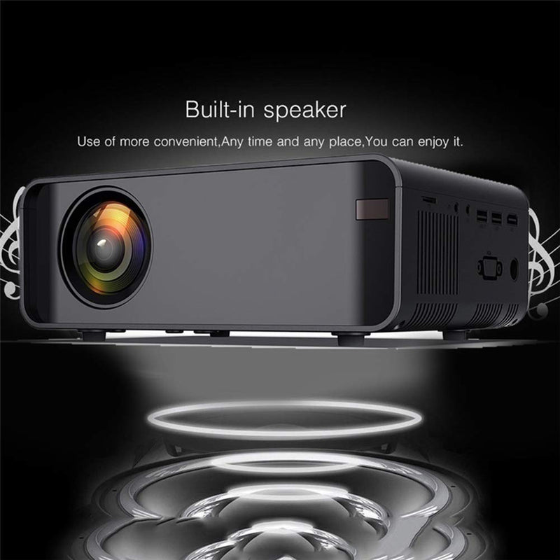 Wireless Projector with Synchronize Phone Screen, Dnyker Mini Video Projector, 4000 Lux,HD 1080p Supported,for Home Theater,Office (Black)