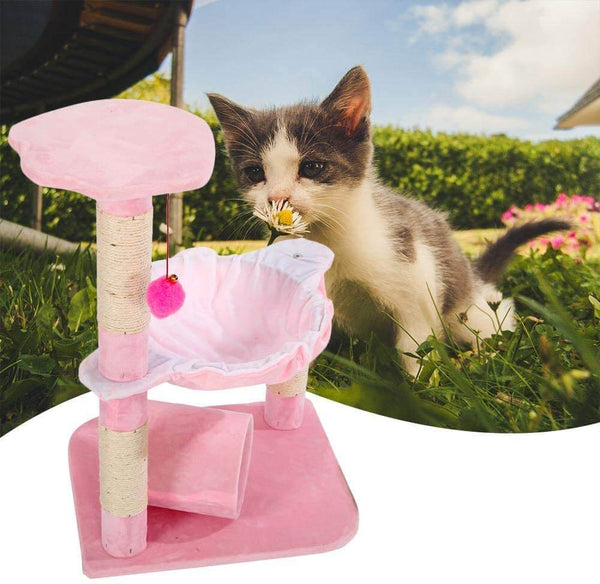 Stable Cute Sisal Cat Climb Holder Cat Tower Lamb Pink 28 inches