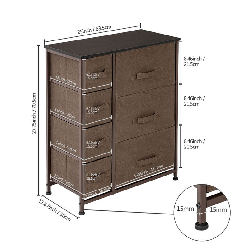 Dresser with 7 Drawers Furniture Storage Tower Unit for Bedroom