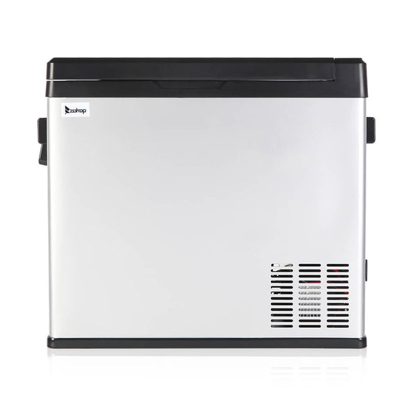 50L Compressor Touch Screen Car Refrigerator Stainless Steel Black