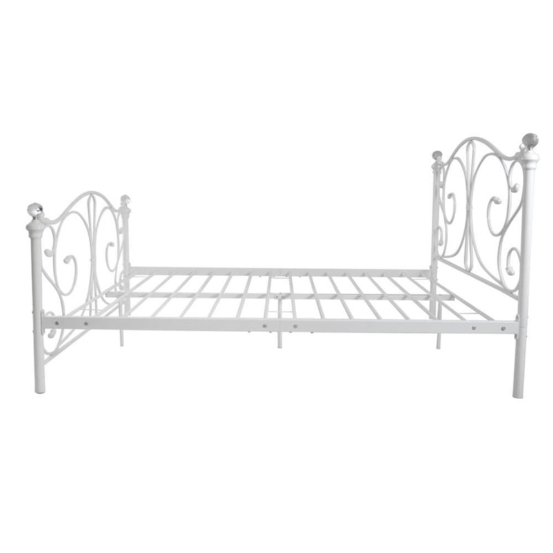 4FT6 Double Size Iron Bed White