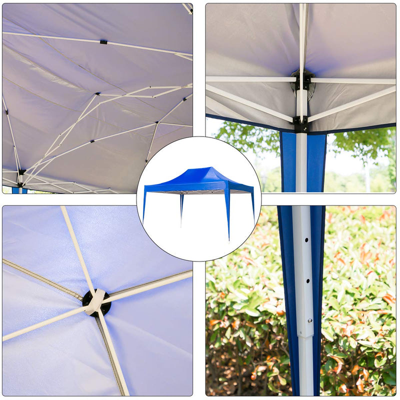 Outdoor Pop up Canopy Party Tent Gazebos 10 x 15 ft Blue