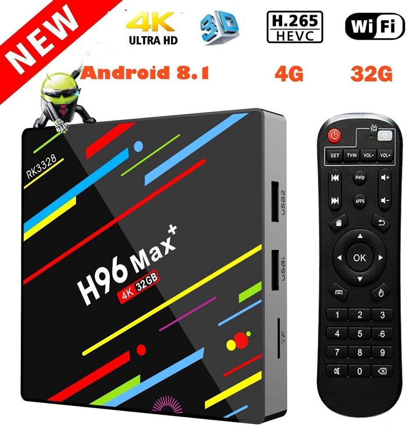 Smart TV Box H96 Max + RK3328 4 gb/32 gb 4 gb/64 gb Intelligente TVBox 5G WiFi 100M LAN H.265 Android TV Box