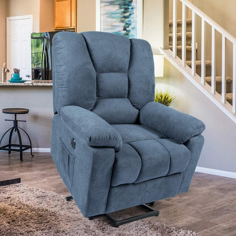 HomHum Microfiber Power Lift Electric Recliner Chair with
