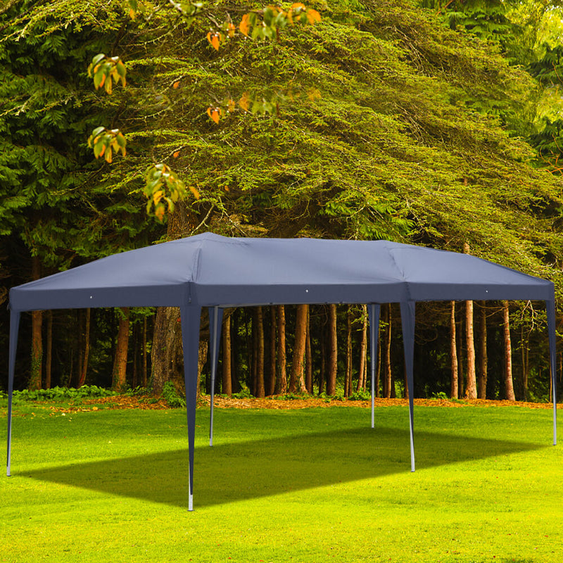 Waterproof Canopy Tent 10 x 20ft with Carry Bag for Camping Blue