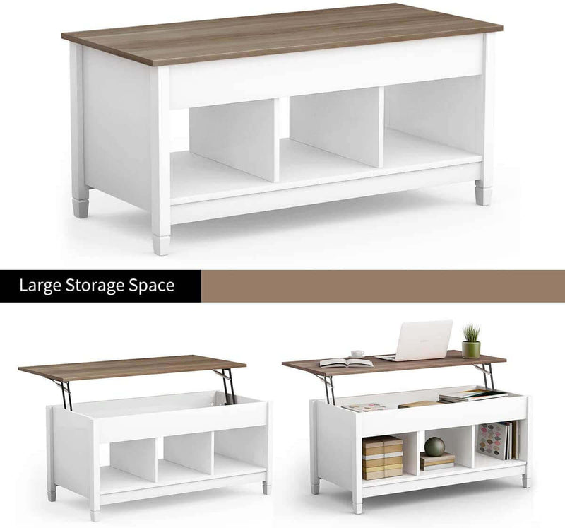 Coffee Table Lift Top Living Room Modern Lift Top Storage Coffee Table White